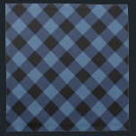 "Rustic Black and Blue Buffalo Plaid | Holiday Cloth Napkin<br><div class=""desc"">Add a rustic touch to your holiday dinner party with black and blue buffalo plaid cloth napkins.</div>"