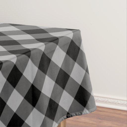 Rustic Black and Gray Buffalo Plaid Tablecloth : Zazzle