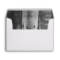 Rustic Black and White Country Barn Wood Envelope