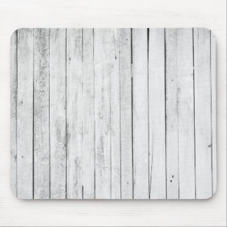 Rustic Black and White Wood Panel Farm Mouse Pad