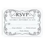 Rustic Black Burlap RSVP Wedding Reply Cards Personalized Invite