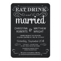 """Rustic Black Burlap Vintage Wedding Invitations 4.5"""" X 6.25"""" Invitation Card"""