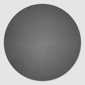 Rustic Black Chalkboard Printed Classic Round Sticker