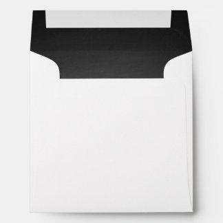 Rustic Black Chalkboard Printed Envelope