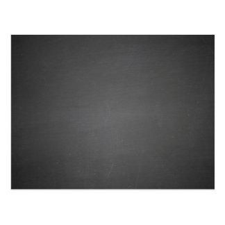 Rustic Black Chalkboard Printed Postcard