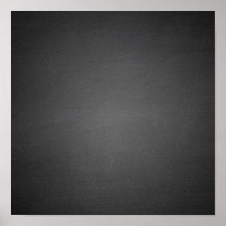 Rustic Black Chalkboard Printed Poster
