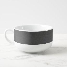 Rustic Black Chalkboard Printed Soup Mug