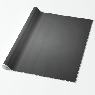 Rustic Black Chalkboard Printed Wrapping Paper