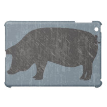 Rustic Black Pig Cover For The iPad Mini