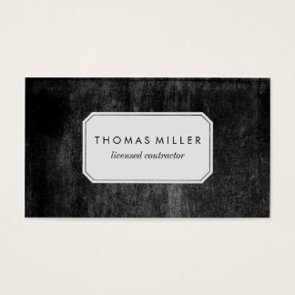 Rustic Black Professional Business Card
