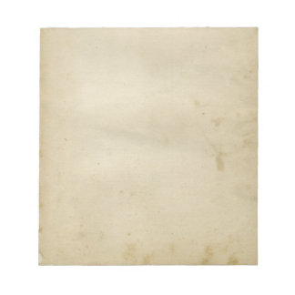 Rustic Blank Antique Stained Paper Retro Inspired Notepad