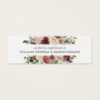 Rustic Bloom Bridal Registry Insert Cards | Mini
