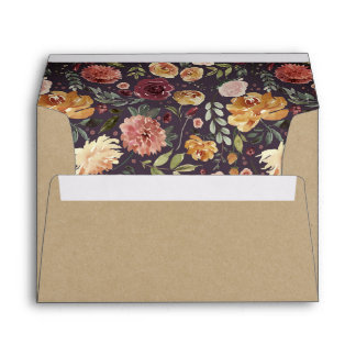 Rustic Bloom Kraft Envelope