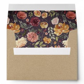 Rustic Bloom Kraft Envelope