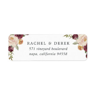 Rustic Bloom Return Address Label