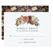 Rustic Bloom RSVP Card