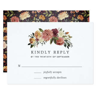 Rustic Bloom RSVP Card
