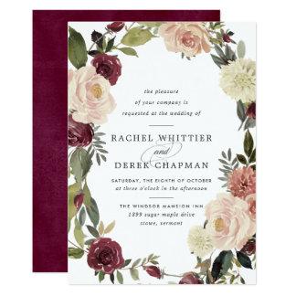 Rustic Bloom Wedding Invitation