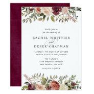 Rustic Bloom Wedding Invitation at Zazzle
