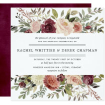 Rustic Bloom Wedding Invitation | Square