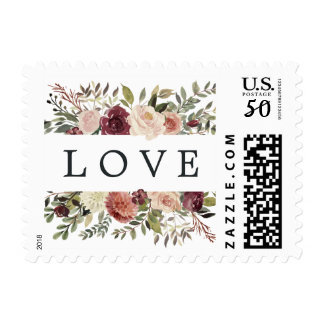 Rustic Bloom Wedding LOVE Postage