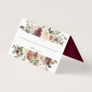 Rustic Bloom Wedding Place Card