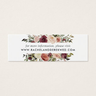 Rustic Bloom Wedding Website Cards | Mini