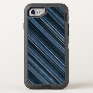 Rustic Blue, Attractive Men's Stripes Pattern OtterBox Defender iPhone 7 Case