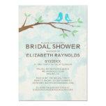 Rustic Blue Bird Bridal Shower Invitations Cards