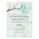 Rustic Blue Bird Wedding Invitations