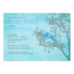 Rustic Blue Birds Bridal Shower Invitations Custom Invite