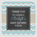 Rustic Blue Boy Baby Shower favor sticker 3656