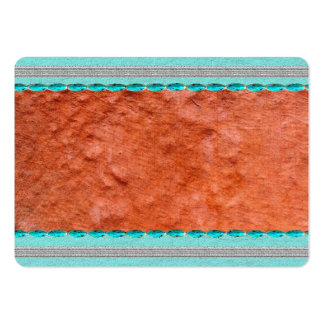 rustic blue clay textured business cards