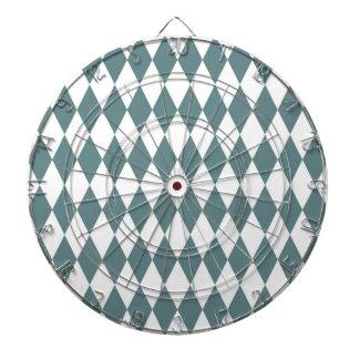 Rustic Blue Diamond Modern Retro Pattern Dart Boards