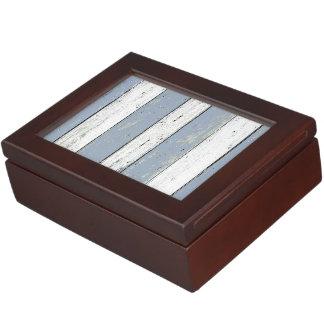 Rustic Blue Driftwood Keepsake Box