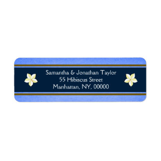 Rustic Blue Floral Return Address Labels Favors Return Address Label