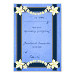 foldable wedding table place cards, rustic blue