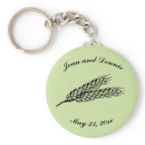 Rustic Blue Green Wheat Keychain