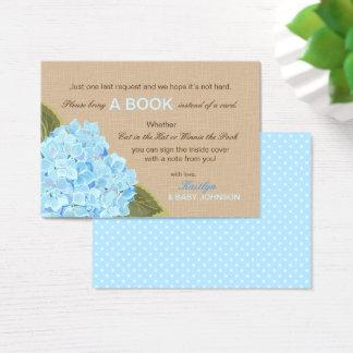 Rustic Blue Hydrangeas Read A Book Card