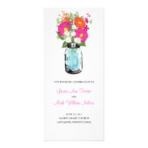 Rustic Blue Mason Jar Gerber Daisies Program