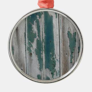 Rustic Blue Metal Ornament