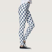 rustic blue stars pattern all over printed legging