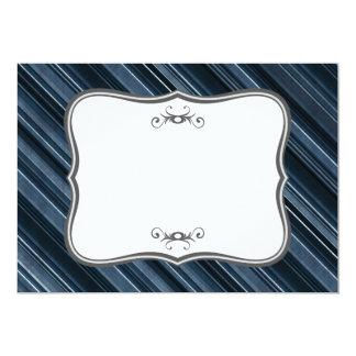 """Rustic Blue"" Stripes Pattern Card"
