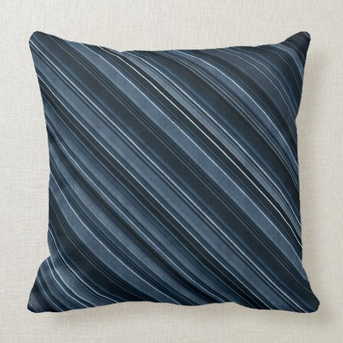 Rustic Blue Stripes Throw Pillow - rustic decorative throw pillows