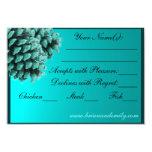 "Rustic blue winter pine cone RSVP cards 3.5"" X 5"" Invitation Card"