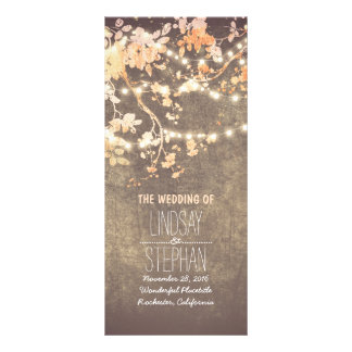 Rustic Blush Pink Tree Branches Wedding Program