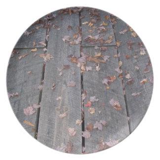 Rustic Boardwalk Dinner Plate
