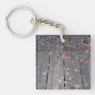 Rustic Boardwalk Keychain