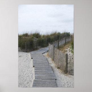Rustic Boardwalk to Beach Poster