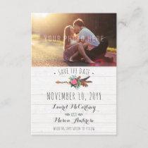Rustic Bohemian Arrow Wedding Save The Date